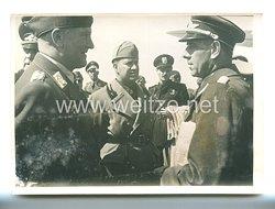 3. Reich Pressefoto: Graf Ciano während ein Frontbesuch an der Westfront