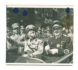 3. Reich Pressefoto: Außenminister Graf Ciano und Von Ribbentrop im Auto