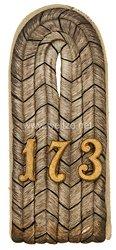 Preußen Einzel Schulterstück für einen Leutnant im 9. Lothringischen Infanterie-Regiment Nr. 173