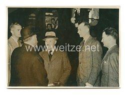 3. Reich Pressefoto: Die Abreise des französischen Militärs 4.8.1939