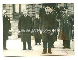 3. Reich Pressefoto: Der neue Präsident der Tschecho - Slowakei 2.12.1938