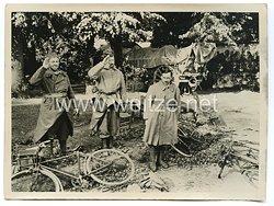 Wehrmacht Pressefoto: französische gefangene (Frankreich)