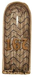 Preußen Einzel Schulterstück für einen Leutnant im 1. Ober-Elsässisches Infanterie-Regiment Nr. 167