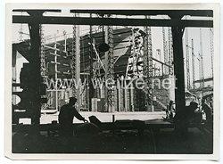 Kriegsmarine Pressefoto: Flugzeugträger Joffre beim Bau 27.6.1940 (Frankreich)