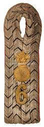 Preußen Einzel Schulterstück für einen Leutnant im Feldartillerie-Regiment von Peucker (1. Schlesisches) Nr. 6
