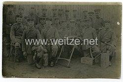 1. Weltkrieg Deutsches Heer Foto, Soldaten mit einem Maschinengewehr MG 08/15
