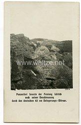 1. Weltkrieg Deutsches Heer Foto, Panzerfort Loucin der Festung Lüttich 1914