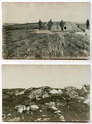 1. Weltkrieg Deutsches Heer Fotos, Zerstörte Bunkeranlage
