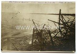 1. Weltkrieg Deutsches Heer Foto, Stacheldrahtsperren am Strand
