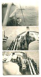 Weimarer Republik Fotos, Paul von Hindenburg besichtigt ein Kriegsschiff der Reichsmarine