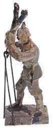 Lineol - 1. Weltkrieg Artillerie-Offizier mit dreibeinigem Scherenfernrohr