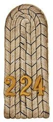 Preußen 1. Weltkrieg Einzel Schulterstück für einen Leutnant imReserve-Infanterie-Regiment Nr. 224