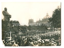 1. Weltkrieg Deutsches Heer Pressefoto: Huldigungsfeier am Hindenburg-Denkmal in Berlin