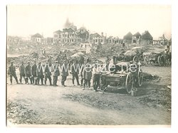 1. Weltkrieg Deutsches Heer Pressefoto: Deutsche Truppen in Kulikow (Ostgalizien)