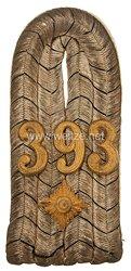 Preußen 1. Weltkrieg Einzel Schulterstück für einen Oberleutnant imInfanterie-Regiment Nr. 393
