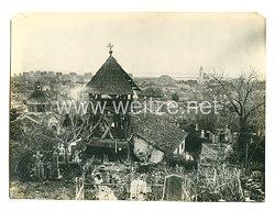 1. Weltkrieg Deutsches Heer Pressefoto: Nach der Einnahme von Semendria