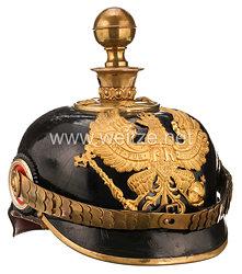 Preußen Pickelhaube für einen Offizier der Fußartillerie-Regimenter