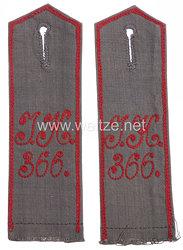 1. Weltkrieg Jugendwehr Paar Schulterklappen Jugendwehr Kompanie 366