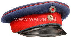 Bayern Schirmmütze für einen Offizier im 11. Infanterie-Regiment von der Tann