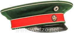 Preußen Schirmmütze für einen Reserve-Offizier im 2. Westfälischen Husaren-Regiment Nr. 11