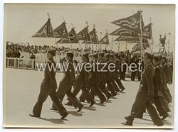 Luftwaffe Legion Condor Pressefoto: Parade vor General Franco auf den Madrider Flugplatz Barajas 15.5.1939