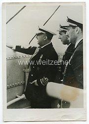 3. Reich Pressefoto: Generalissimo Franco bei einer Garteninspektion
