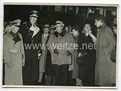 3. Reich Pressefoto: Der Spanische General Moscardo in Berlin, Verteidiger des Alkazars von Toledo 19.4.1939