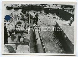 Kriegsmarine Pressefoto: Schnellbote voran