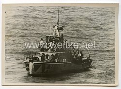 Kriegsmarine Pressefoto: Deutsches Minenräumboot im Kanal 18.110.1940