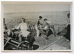 Kriegsmarine Pressefoto: Minenräumboot im Atlantik15.10.1940