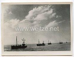 Kriegsmarine Pressefoto: Minensuchboot bei der Arbeit 10.12.1940
