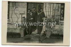 1. Weltkrieg Kaiserliche Marine Foto, Kasernenverwaltung XVII. Seeabteilung