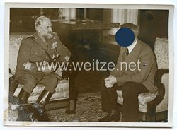 3. Reich Pressefoto: Kolonialminister Teruzzi beim Führer Adolf Hitler 17.9.1940