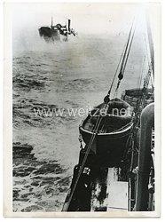 Kriegsmarine Pressefoto: Vorpostenboote