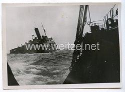 Kriegsmarine Pressefoto: Vorpostenboote 21.12.1940