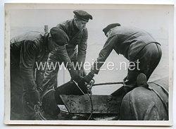 Kriegsmarine Pressefoto: Auf Minensuche in der Nordsee 21.2.1940
