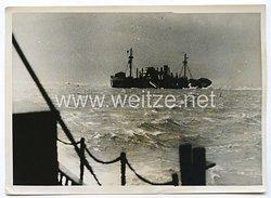 Kriegsmarine Pressefoto: Vorpostenfahrt im Schneesturm 21.2.1941