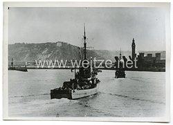 Kriegsmarine Pressefoto: deutscher Minenverband im englischen Kanal11.10.1940