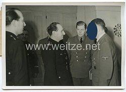 3. Reich Pressefoto: Der spanische Parteiminister Abreise vom Führer Adolf Hitler empfangen 22.1.1943
