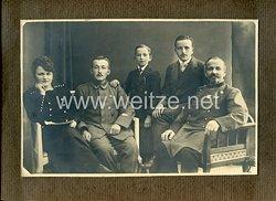 1. Weltkrieg Deutsches Kaiserreich Foto: Angehöriger der Eisenbahn mit Erinnerungszeichen für 25 Jahre