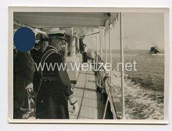3. Reich Pressefoto: Der Reichsverweser Horthy als Gast des Führers Adolf Hitler 22.8.1938