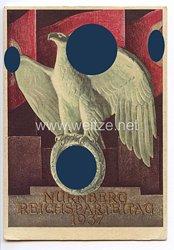 "III. Reich - farbige Propaganda-Postkarte - "" Reichsparteitag Nürnberg 1937 """