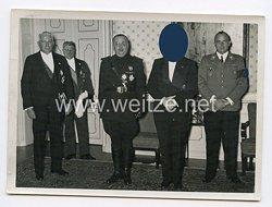 3. Reich Pressefoto: Der italienische Justizminister Exc. Dr. Solmi beim Führer Adolf Hitler 4.11.1937
