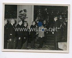 3. Reich Pressefoto: Diplomatenempfang beim Führer Adolf Hitler 7.9.1938