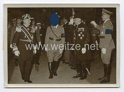 3. Reich Pressefoto: Der Reichsverweser schreitet mit dem Führer Adolf Hitler 24.8.1938