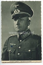 Heer - Propaganda-Postkarte von Ritterkreuzträger Generaloberst von Brauchitsch
