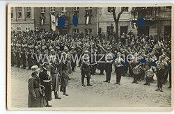 """III. Reich - Propaganda-Postkarte - """" Staatsakt in Potsdam - Reichspräsident v.Hindenburg schreitet die Front ab """""""