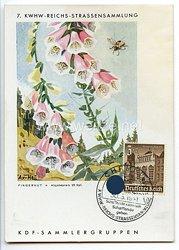 """III. Reich - farbige Propaganda-Postkarte - """" 7. KWHW-Reichs-Strassensammlung 1941 - Fingerhut """""""