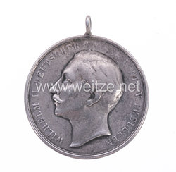 Preußen tragbare silberne Schießpreismedaille für das Infanterie-Regiment Graf Barfuss (4. Westfälisches) Nr. 17 von 1895