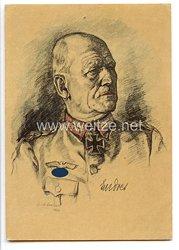 Heer - Propaganda-Postkarte von Ritterkreuzträger Generalleutnant Theodor Endres